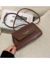 Дамска чанта в тъмно кафяво - код B87