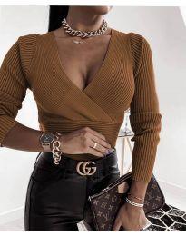 Дамска блуза в кафяво - код 6392