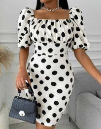 Ефектна дамска рокля в бяло - код 3375