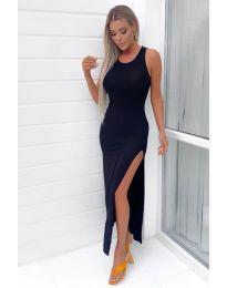 Атрактивна дамска рокля в черно  - код 11966