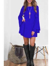 Елегантна рокля в синьо - код 8102