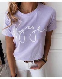 Дамска тениска в лилаво - код 3350