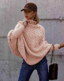 Дамски пуловер в розово - код 24831