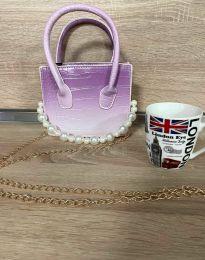 Дамска чанта в тъмнолилаво - код B436 - 1