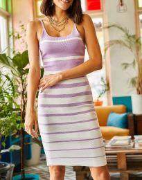 Атрактивна дамска рокля в лилаво - код 0998