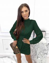 Дамска рокля в тъмнозелено - код 0233