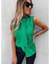 Елегантна дамска риза в зелено - код 5531
