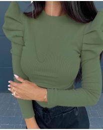 Дамска блуза в зелено - код 8027