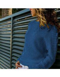 Дамска блуза в тъмно синьо -  код 825