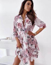 Дамска рокля с флорален десен - код 2550 - 3