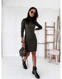 Дамска рокля в черно - код 5696