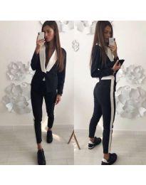 Комплект в черно сако и панталон - код 220