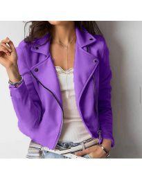 Дамско късо яке в лилаво - код 794