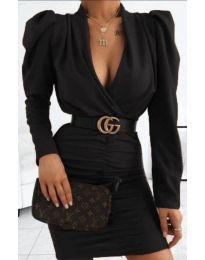 Стилна рокля в черно - код 953