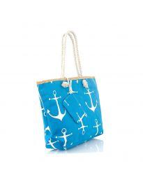Плажна чанта в синьо - код H-9026
