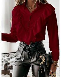 Дамска риза в бордо - код 9032