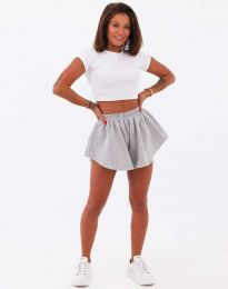 Атрактивни къси панталони в сиво - код 11979