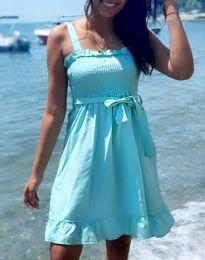 Лятна рокля в цвят мента - код 8113