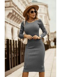 Дамска рокля в сиво - код 8485