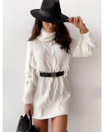 Дамска рокля в бяло - код 0810