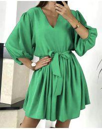 Свободна рокля в зелено - код 6210