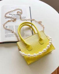 Дамска чанта в жълто - код B436