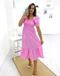 Дамска рокля в розово - код 3283