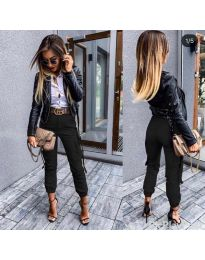 Спортно - елегантен панталон в черно - код 091