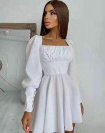 Стилна дамска рокля в бяло - код 8150