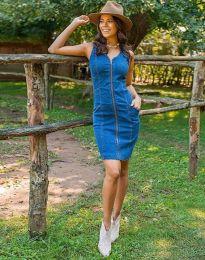 Дънкова рокля в синьо - код 7735