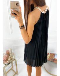 Изчистена рокля в черно - код 1172