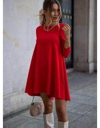 Свободна рокля в червено - код 371