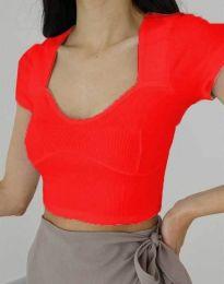Дамска тениска в червено - код 1280