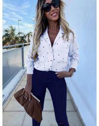 Дамска риза в бял цвят - код 8050