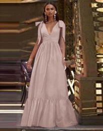 Дълга рокля в бледорозово - код 2743