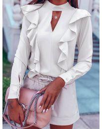 Елегантна блуза в бяло - код 7715
