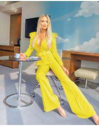 Атрактивен дамски комплект в жълто - код 421