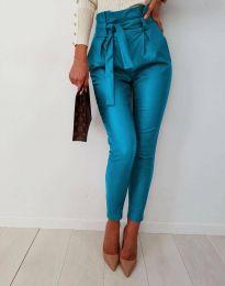 Дамски панталон в синьо - код 6194