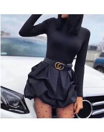 Стилна  дамска рокля в черно - код  8380