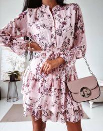 Дамска рокля с флорален десен - код 0586 - 1
