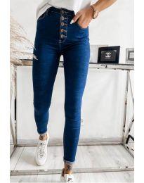 Дамски дънки в синьо - код 4227