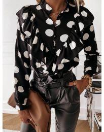 Дамска риза в черно - код 857