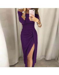 Елегантна рокля в лилаво - код 6045