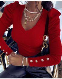 Дамска блуза в червено - код 2065