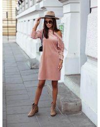 Дамска рокля в розово - код 8171