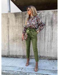Елегантен панталон в маслено зелено - код 788