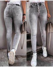 Дамски дънки в сиво - код 3646