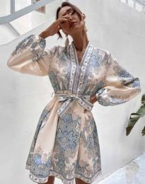 Дамска рокля с атрактивен десен - код 4753 - 2