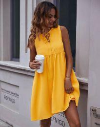 Свободна рокля в цвят горчица - код 0286