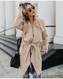 Дамско палто в бежово - код 814